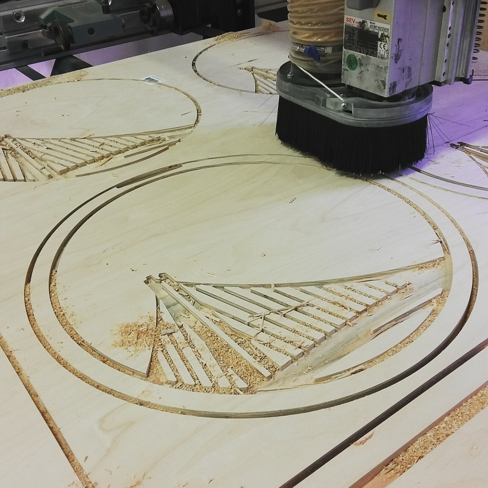 CNC routing of Dubs Chalkboards