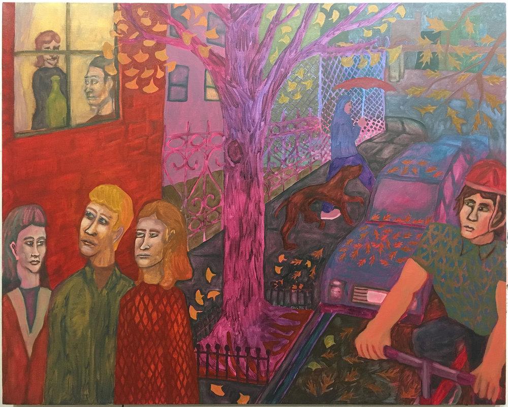"Open Window , 2017  Oil on canvas  50"" x 40"""