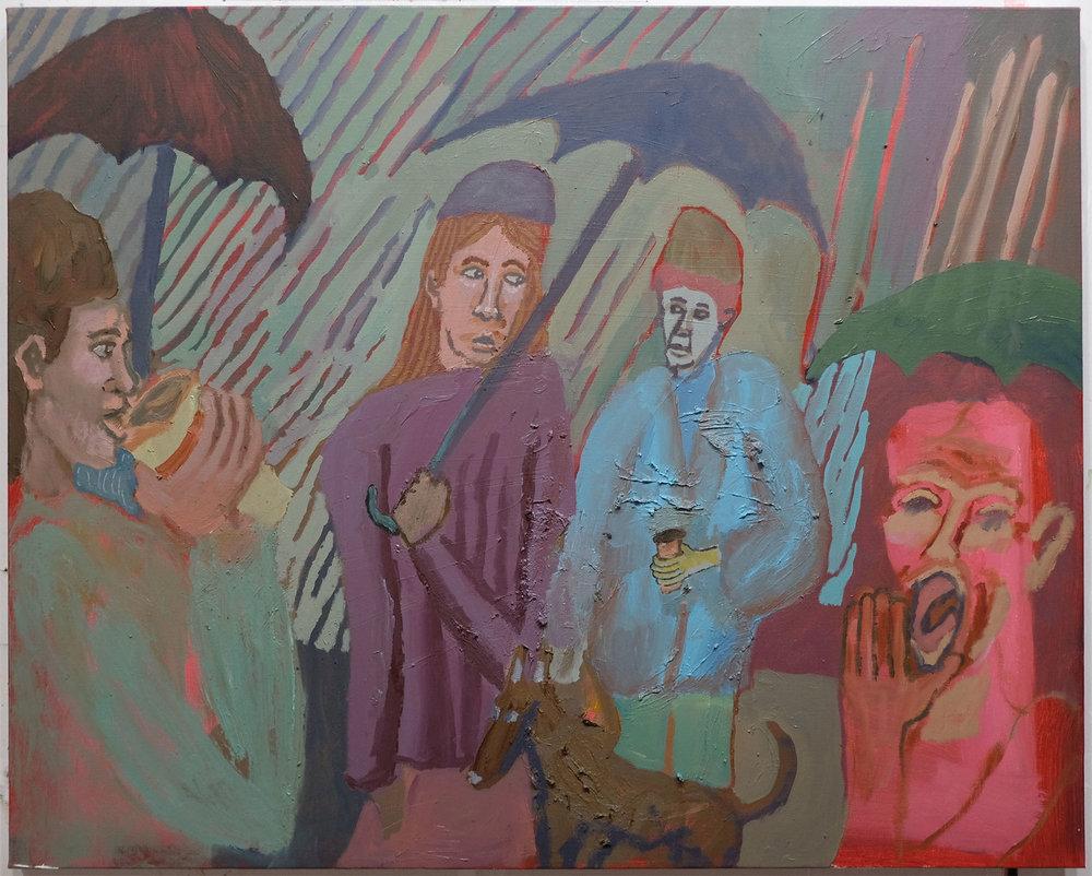 "Rainy Morning , 2017  Oil on canvas  30"" x 24"""