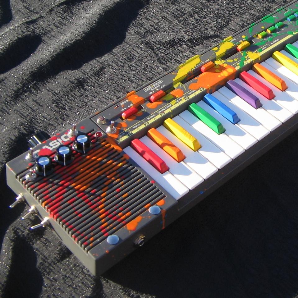 Circuit bent Casio keyboards