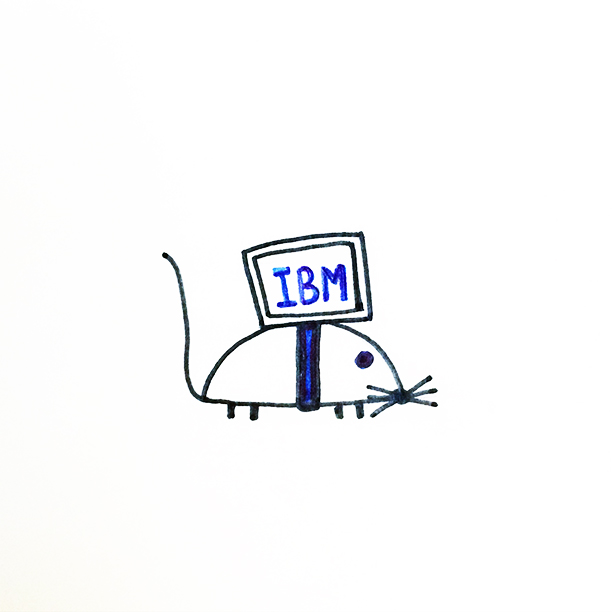 "026.  ""Computer Mouse""  Today I have spent so long at the computer this is how I feel. #mouse"