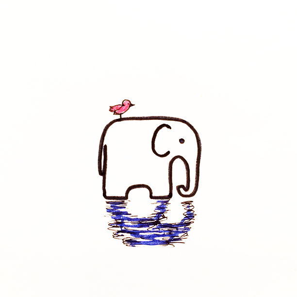 "025.  ""Tired""  Elephants always seem so tired. That grumpy, fed up, not interested anymore kind of tired. Today, that is me - I am an elephant. #elephant"
