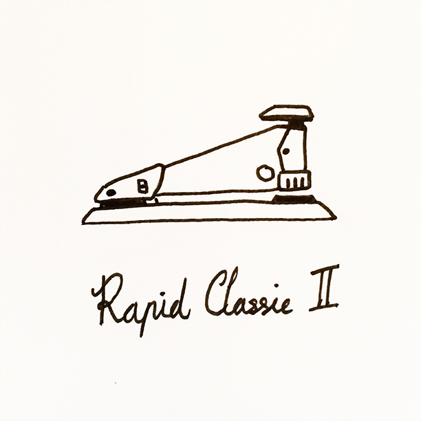"013.  ""Rapid Classic 2""  Even though I barely use her, this is my favourite thing on my desk. The best, sleekest and most efficient stapler ever made. #rapid #classic"