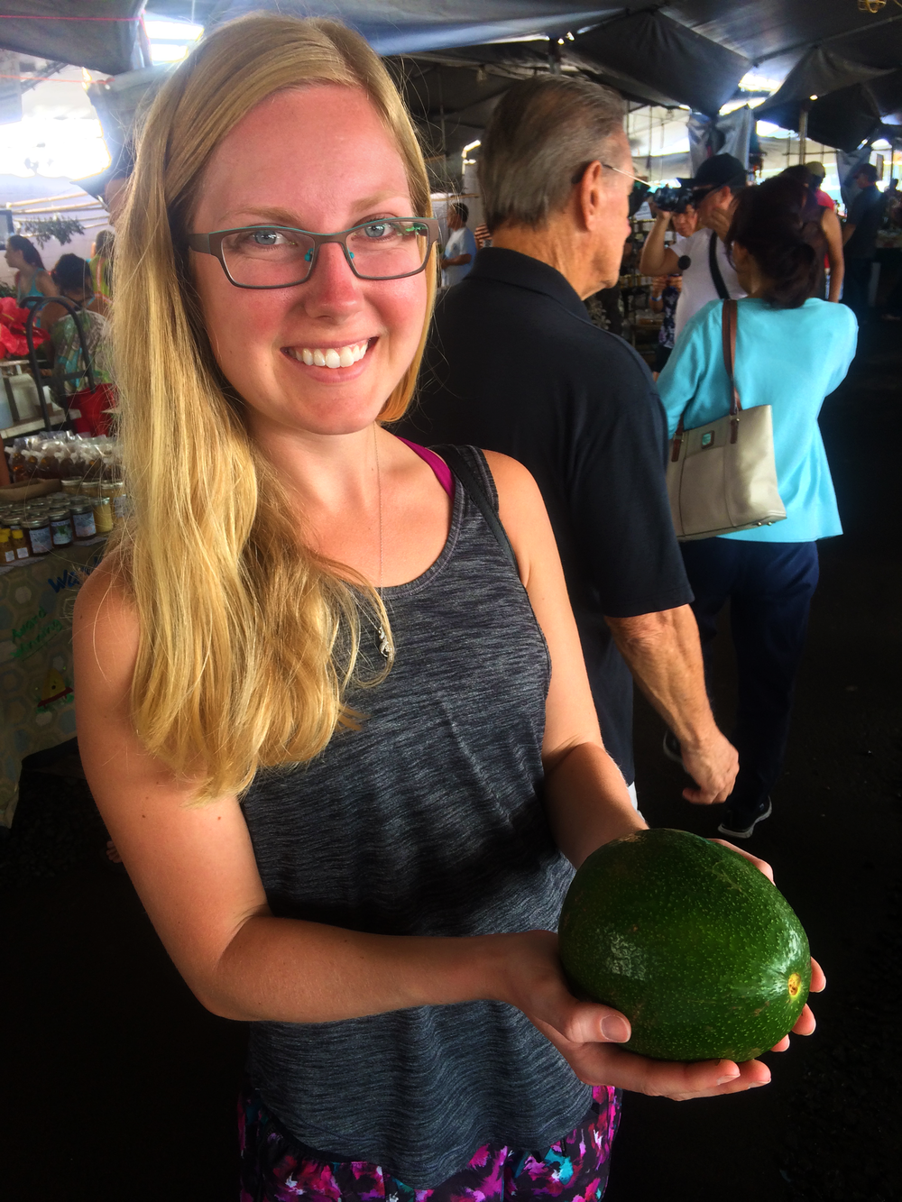 Giant avocados at the Hilo Farmers Market