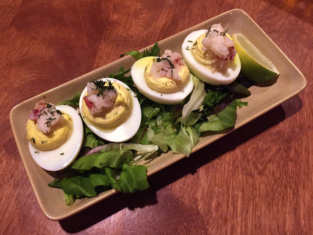 Lobster deviled eggs from MonkeyPod Kitchen