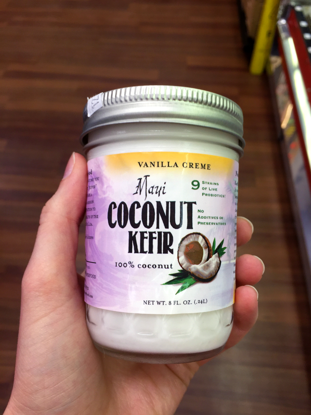 Coconut kefir from Hawaiian Moons Natural Foods