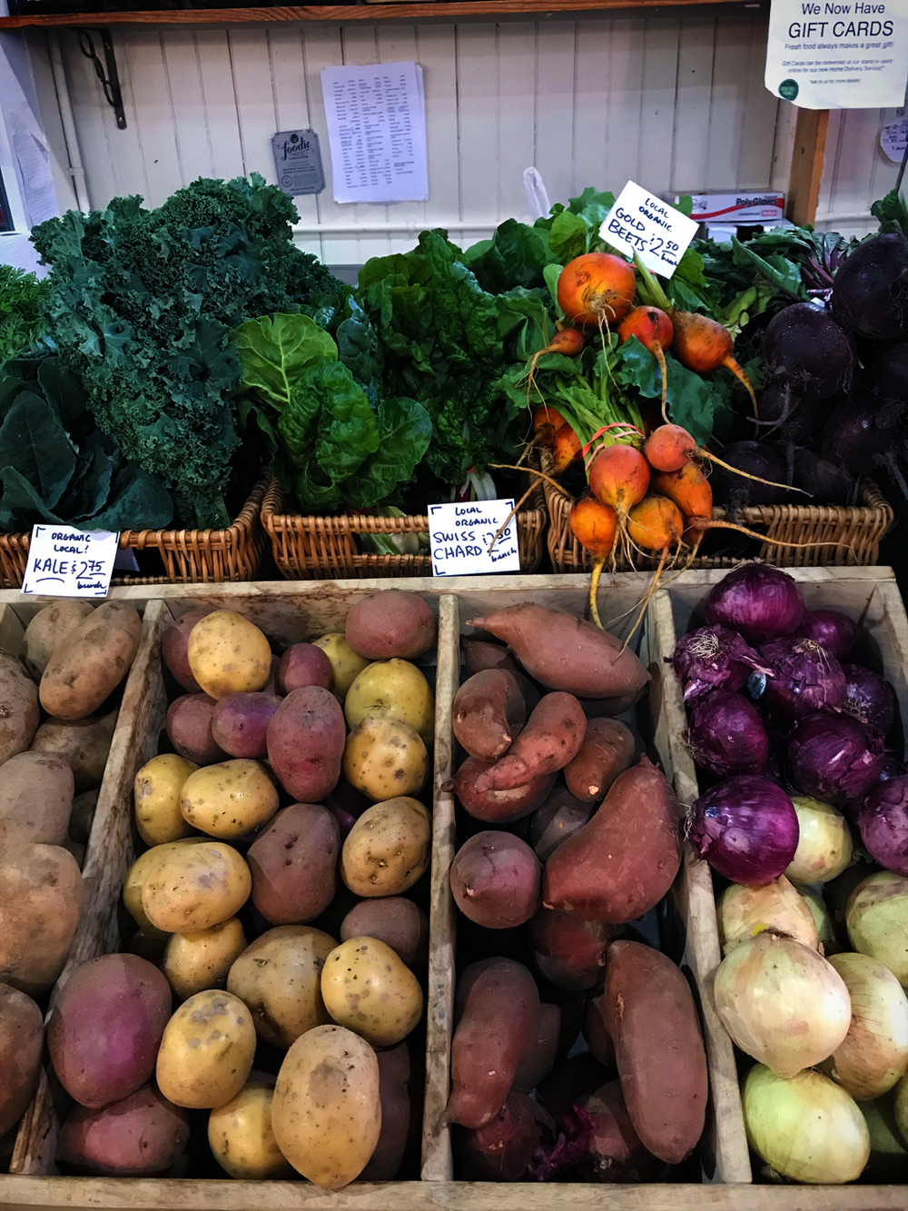 Some organic vegetables at Lancaster Central Market!