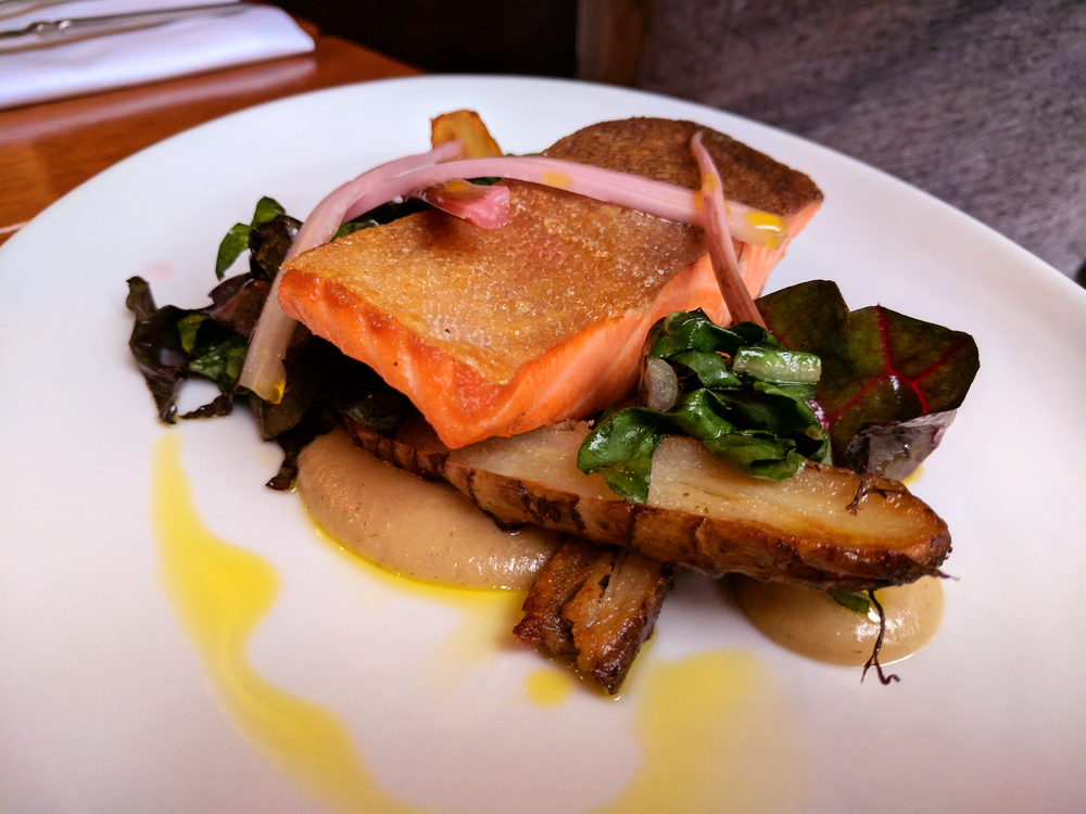 Salmon with sunchokes from Field