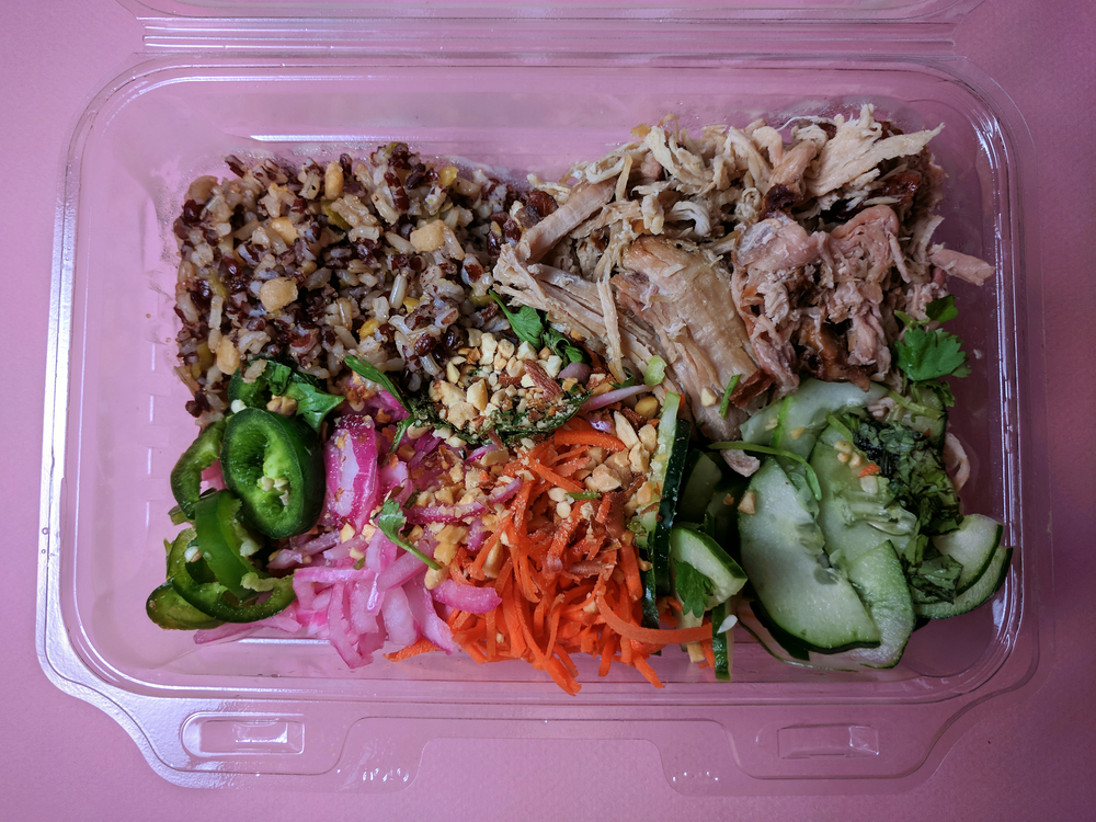 Lemongrass pork bowl (to go) from Modern Market
