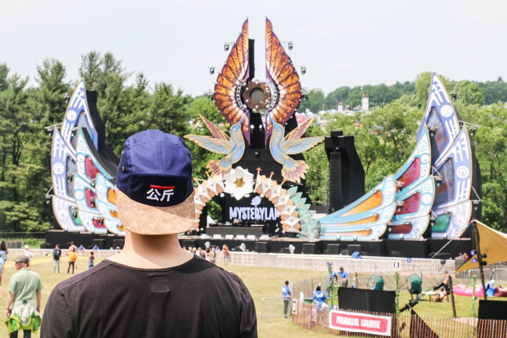Overlooking Mysteryland's main stage during sound check. Get this cap here. Photo by Jarrell Chalmers.