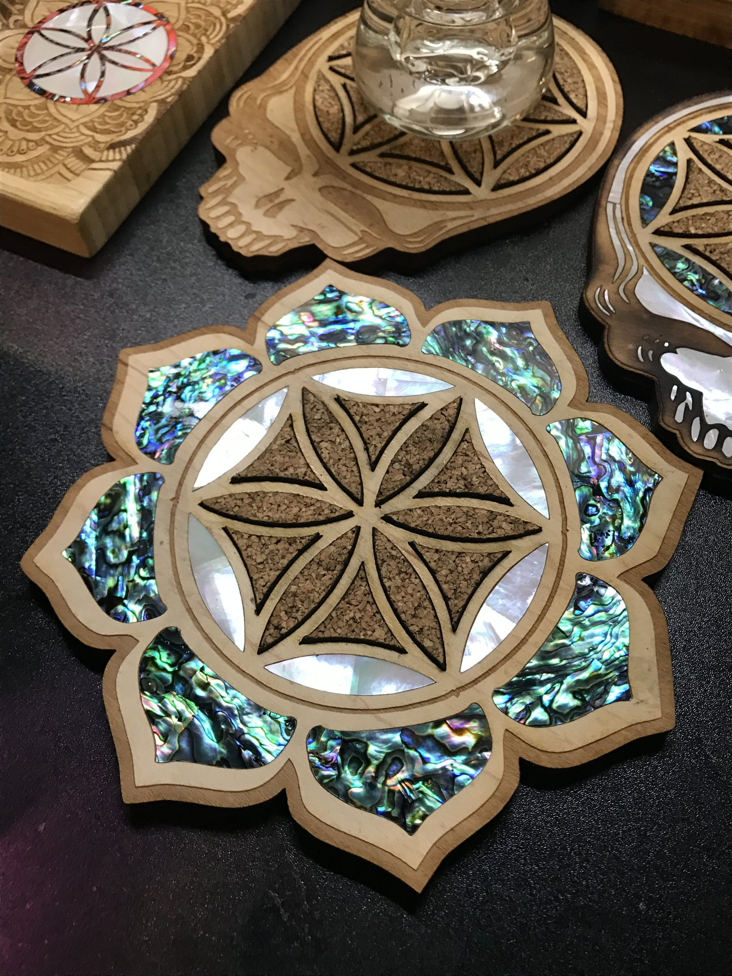 Inlay Flower Of Life Lotus Fat Freddys Creations
