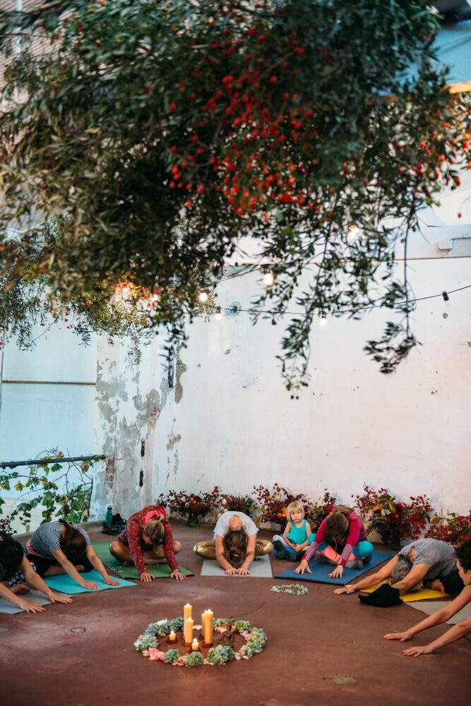 Yoga Workshop. Photo by Zoe McMahon