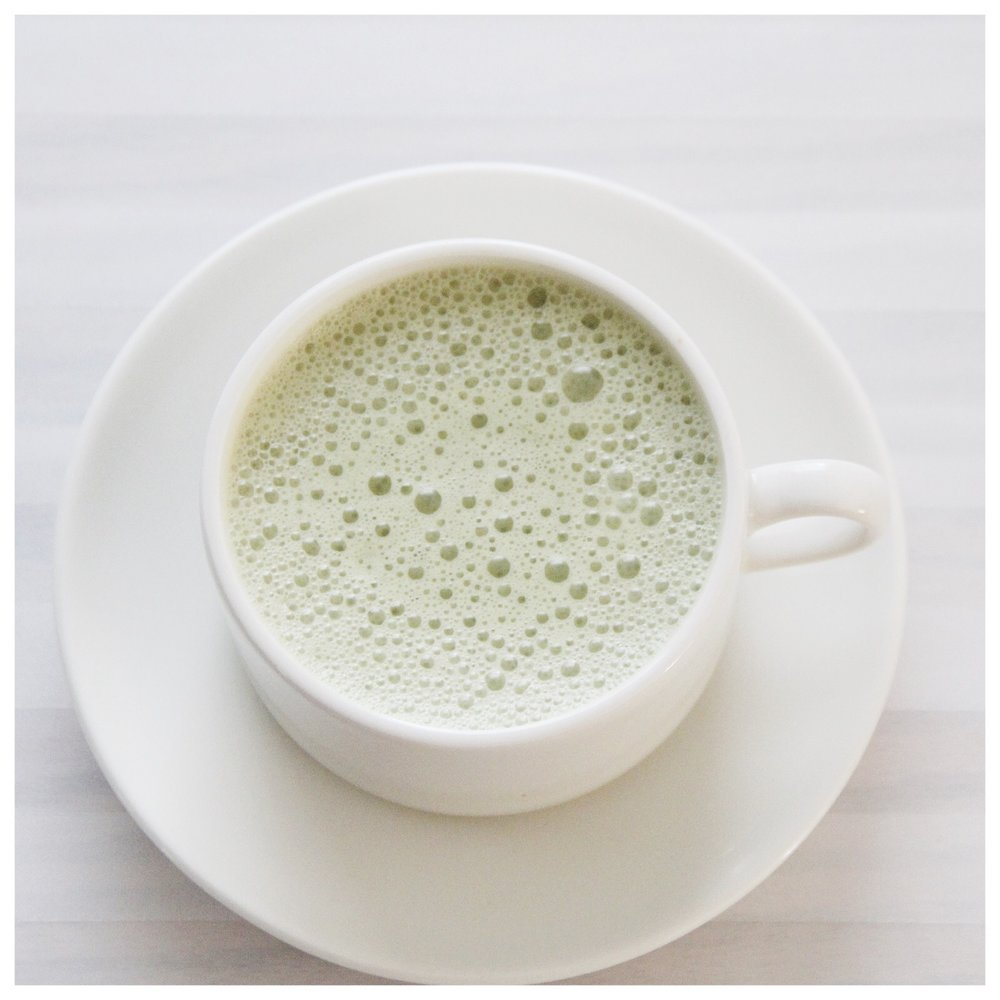 My quick & easy matcha tea latte.