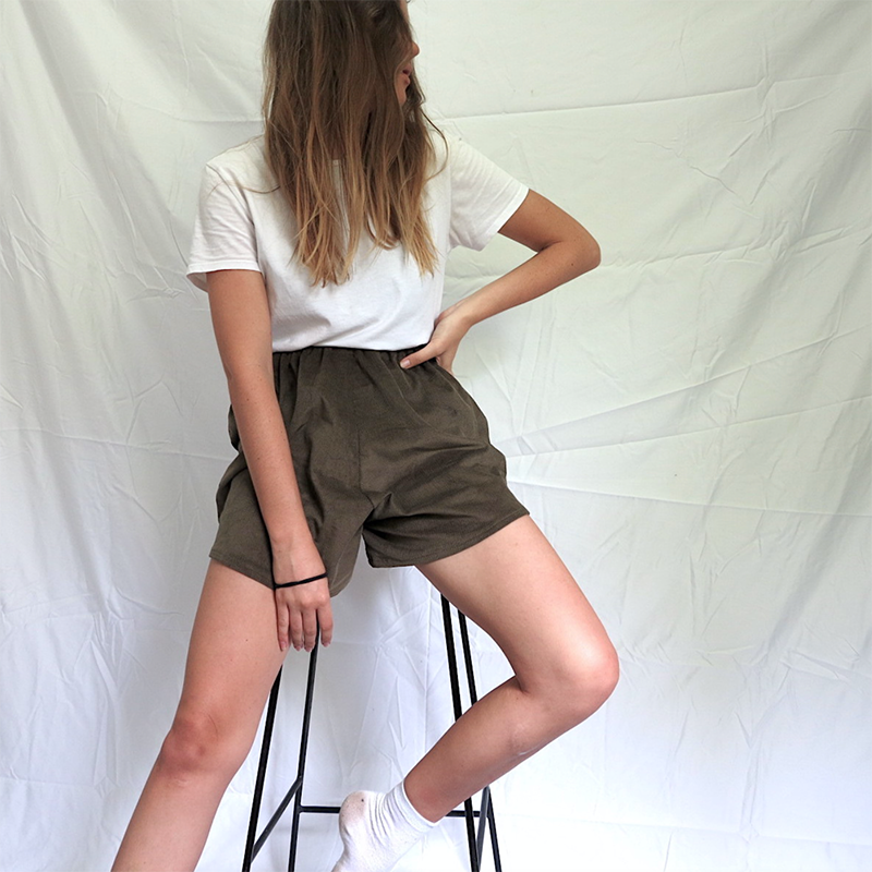 DIY: Easy High Waisted Corduroy Shorts -