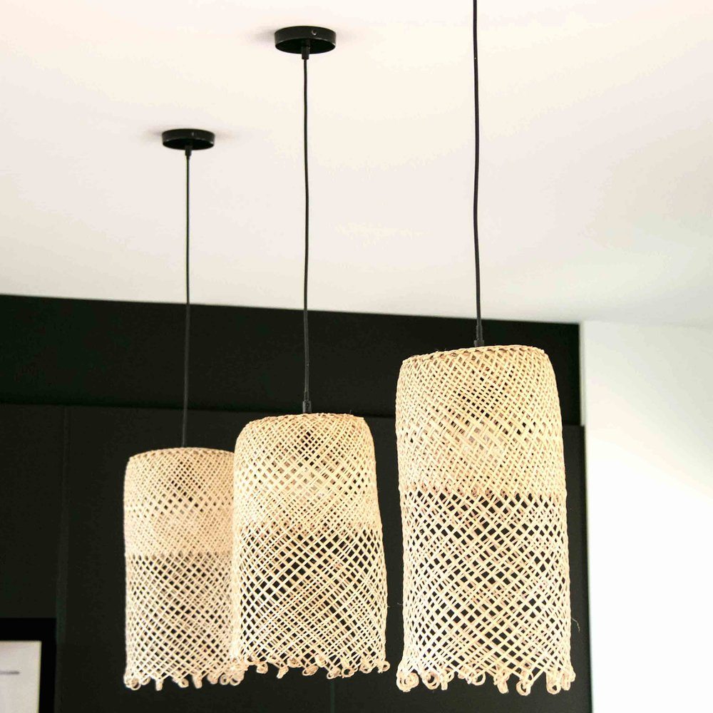diy: basket lampshade -