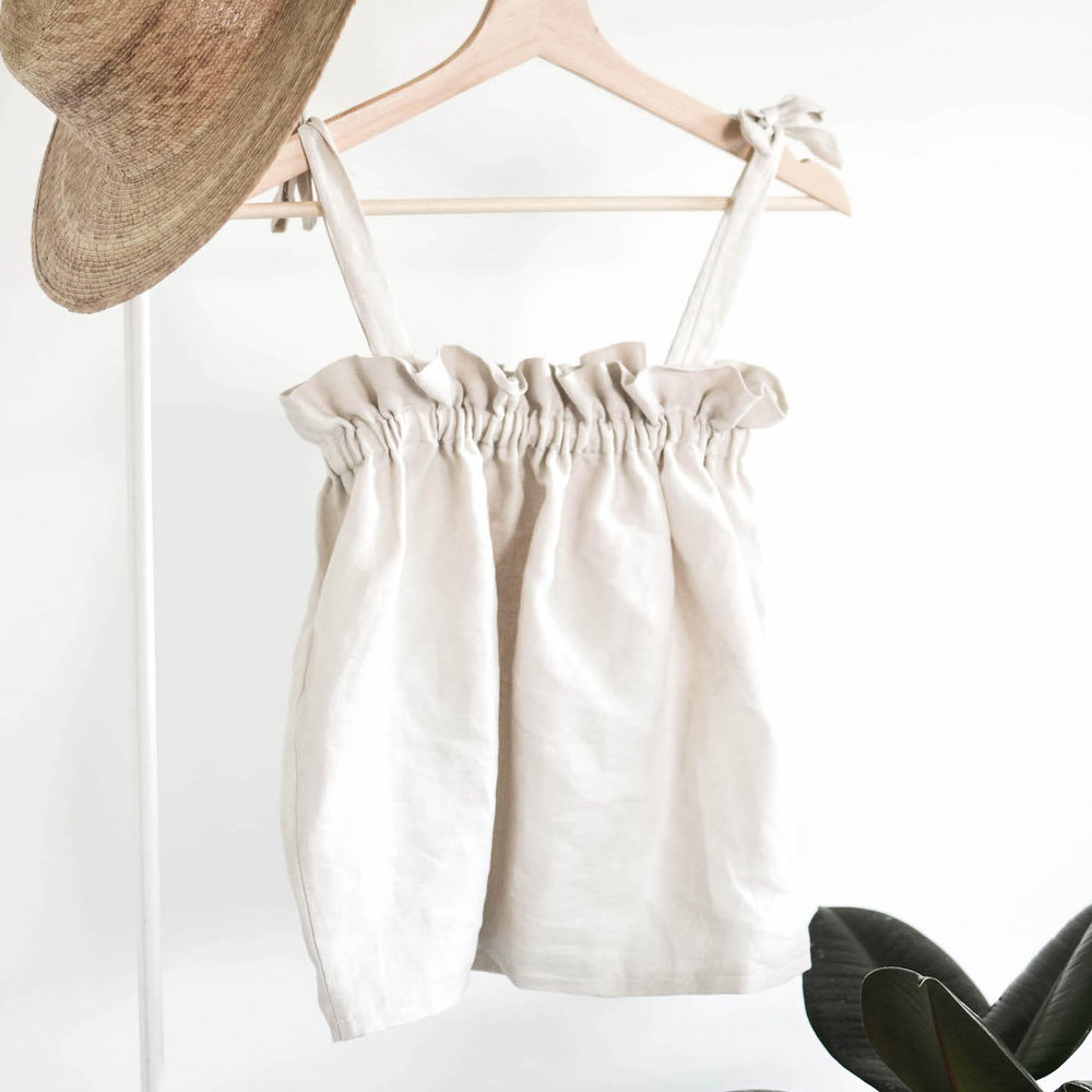 diy: gathered cami top with the eve -