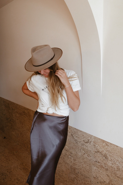 DIY Bias Silk Skirt