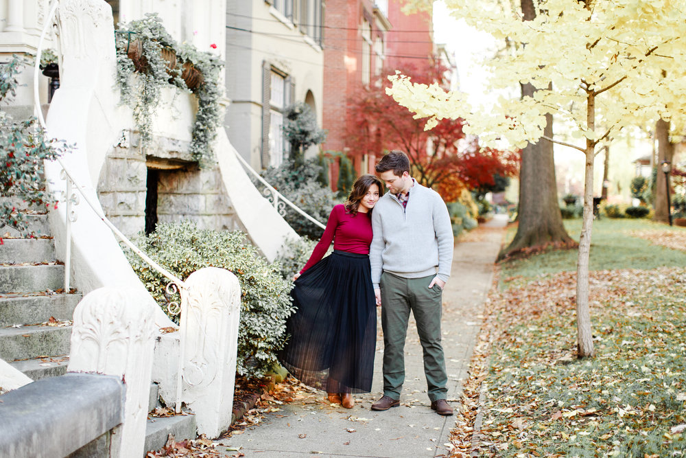 Chelsea + Zack - Downtown Engagement Portraiture at St. James Court | Louisville, Kentucky