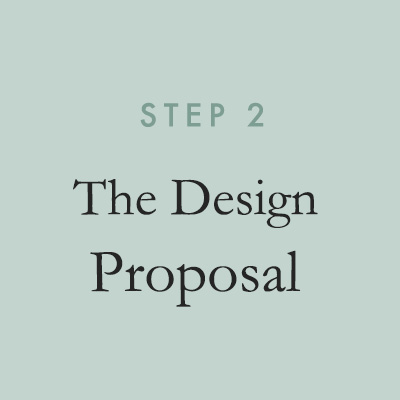 We'll create a comprehensive proposal outlining overall design concepts, including detailed mood boards and sketches, tailored to your vision.
