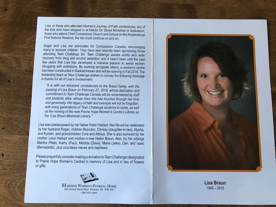 Lisa Funeral bulletin  back March 4 2018.jpg
