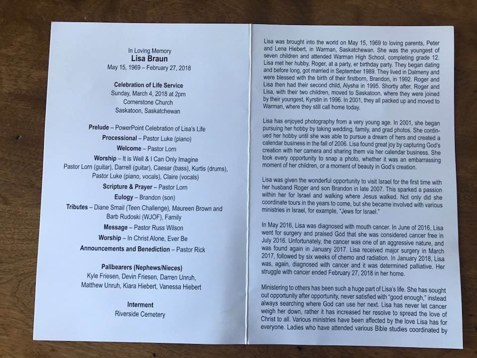 Lisa Funeral bulletin March 4 2018.jpg