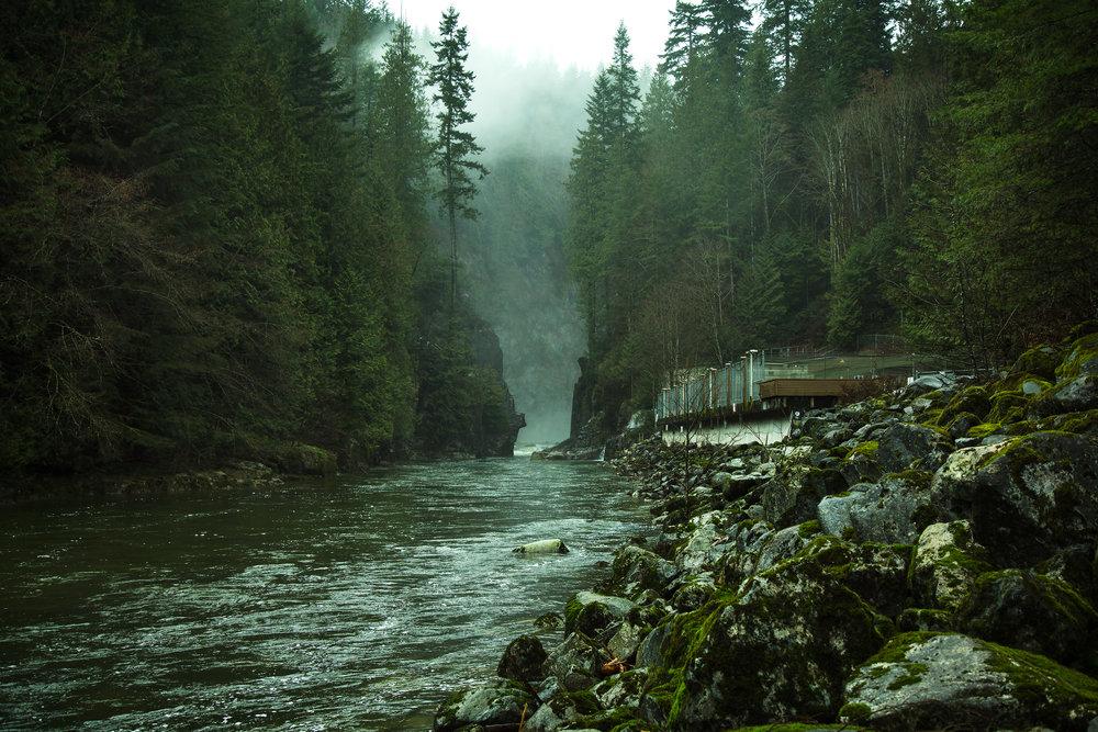 Capilano River near Vancouver, BC