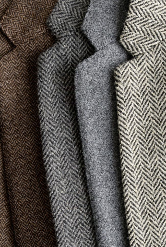 The many colors of the of the Herringbone Tweed