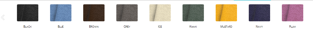 The following are the many Linen colors you can choose from on Alex Noel Deluxe Design