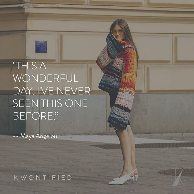 Cherish every day. . . . 📷: @vogue #kwontified #fashion #style #fashionweek #instagood #stockholmfashionweek #outfitoftheday #stockholm #ootd #streetstyle #streetfashion #instafashion #fashiongram #fashionblog #fashionstyle #fashionista #fashionblogger #highfashion #styleblogger #styleinspo #stylelookbook #fashionlookbook #motivation #motivationalquote #success #inspiration #inspirationalquote #quoteoftheday #vogue #hardwork
