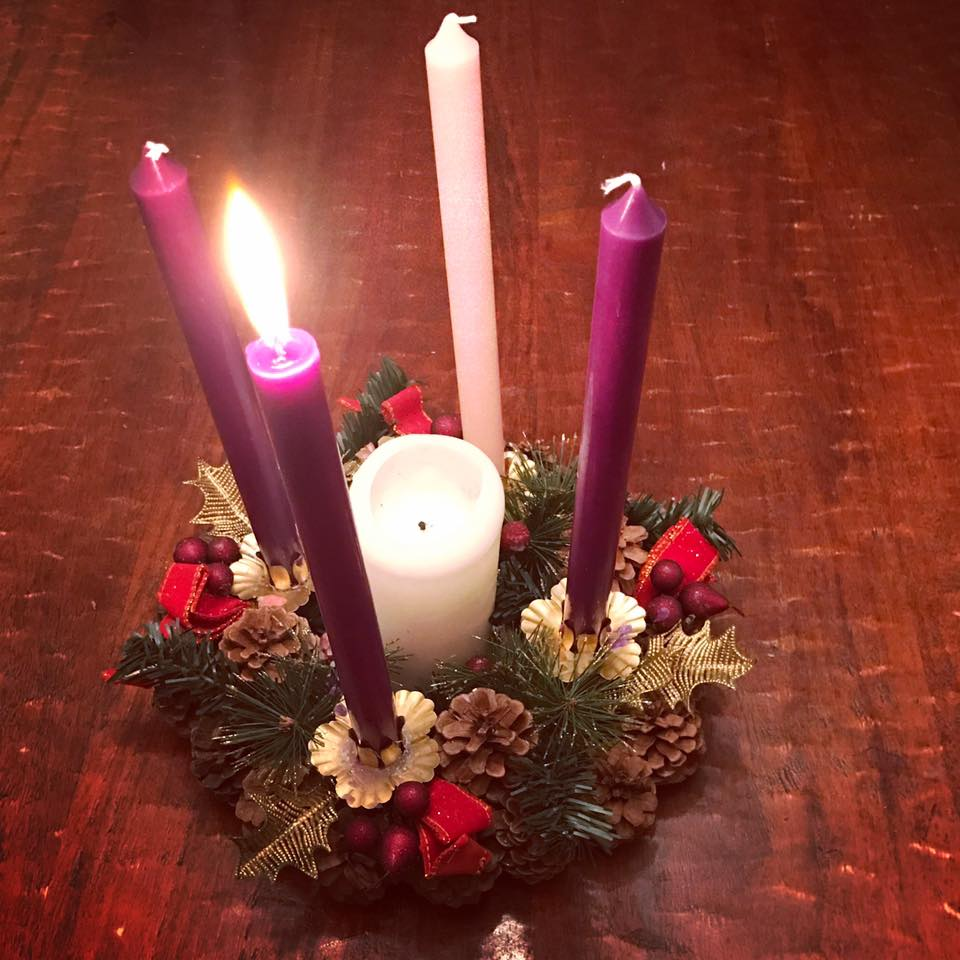Our family's Advent wreath