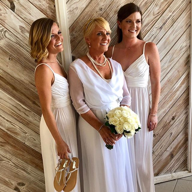We custom made this wedding dress for our Bride that wanted her dress to drape layers and layers of white tulle for her #turksandcaicos wedding! #beautifulbride @suefoxrocks ❤️