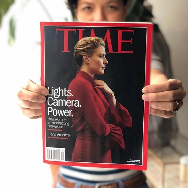 @christinealcalay we get chills every time we see this! Congrats on your cover! Greta Gerwig looks so good in Power Red ❤️❤️❤️