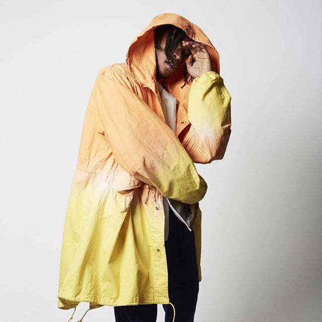 We're ready for #spring with this @postimperial overdyed lightweight parka. The technique is called adire, a rare hand dyeing process developed in Southwest Nigeria. The coat was dipped in vats of dye and left in the sun for hours. #postimperial