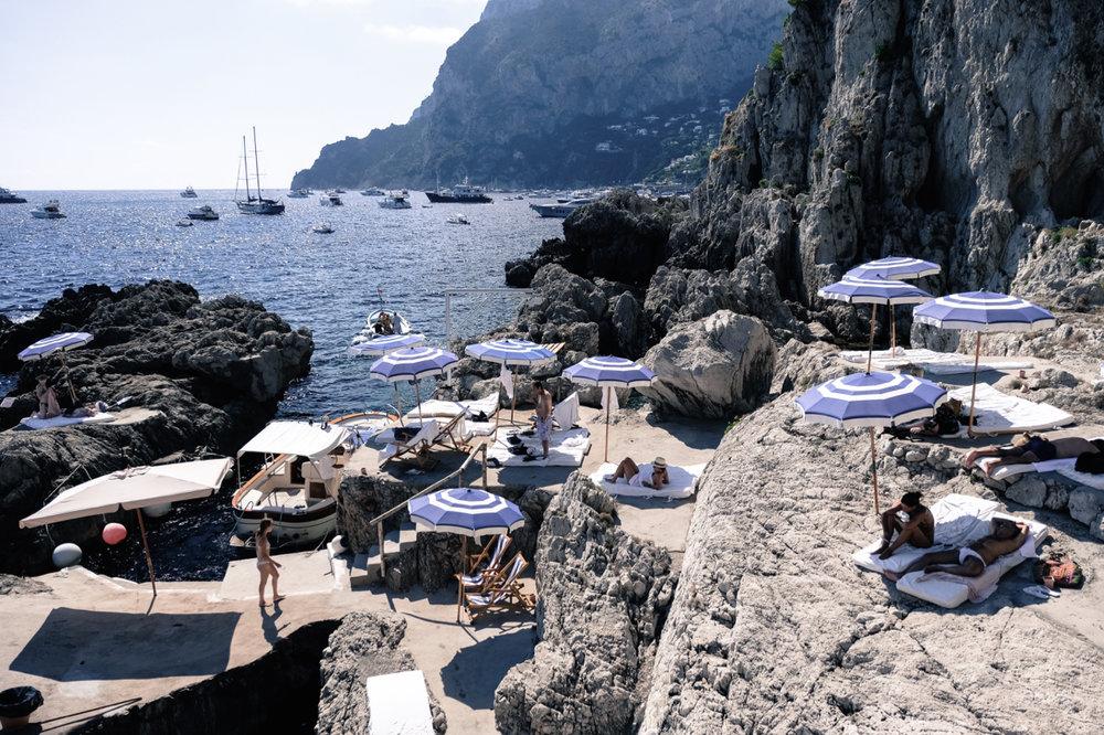 AMALFI SUMMER - Celebrating the iconic Italian beach scene.