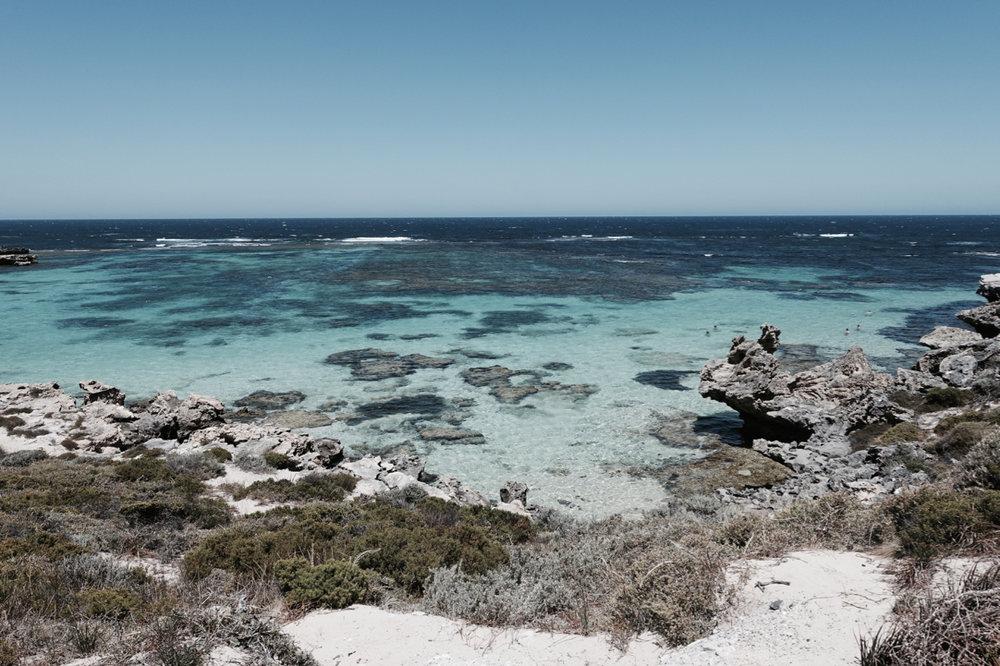 ROTTNEST ISLAND - The wild, rugged and pristine coastline in Western Australia.