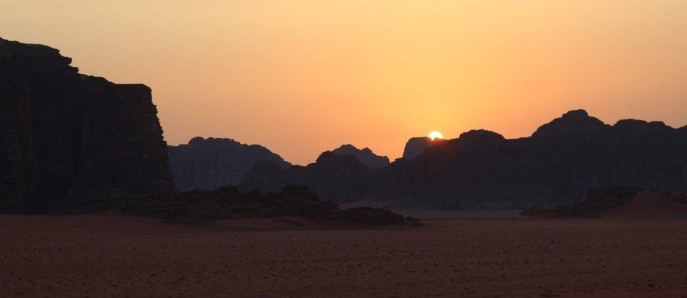 Sunset Wadi Rum Desert Jordan