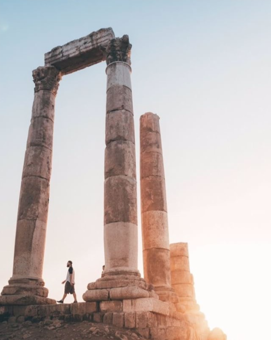 The Temple of Hercules at the Amman Citadel. Photo taken by Joe Parker,  @joe.xplores on Instagram .
