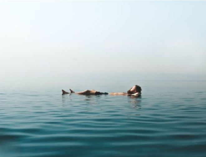 Floating on the Dead Sea. Photo taken by Joe Parker,  @joe.xplores on Instagram .