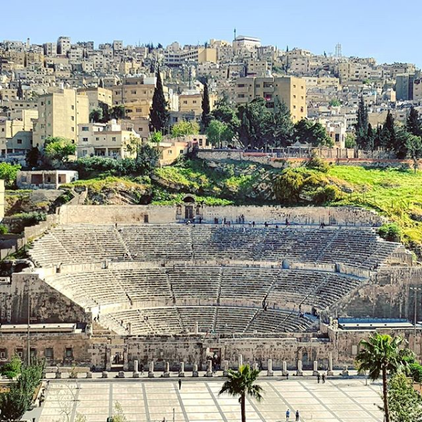 The Roman Theater in Amman. Photo taken by  @fedeworld on Instagram .