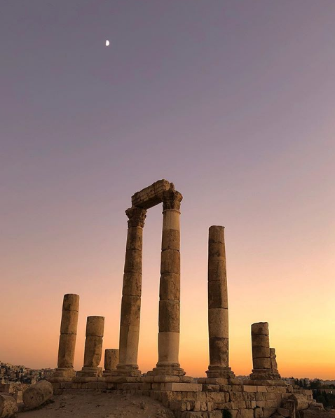 Temple of Hercules, Amman Citadel. Photo taken by Adnan Ahmed,  @adnanahmed9 on Instagram .