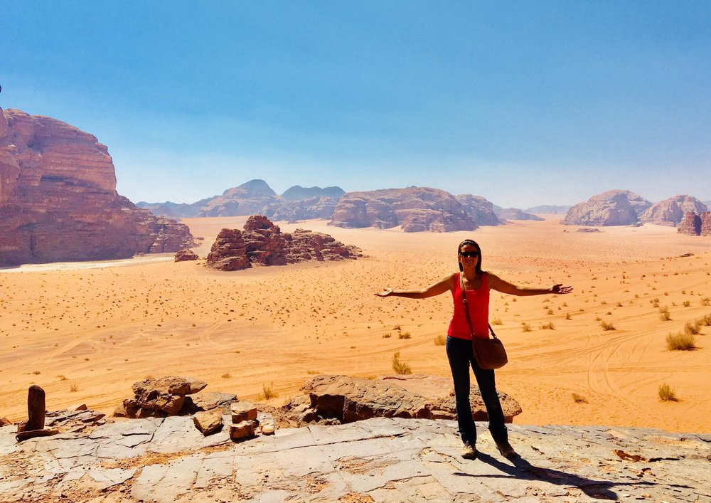 Wadi Rum Landscape - Photo taken by our guest Hilda Berenice Hernandez Ramirez from Mexico.
