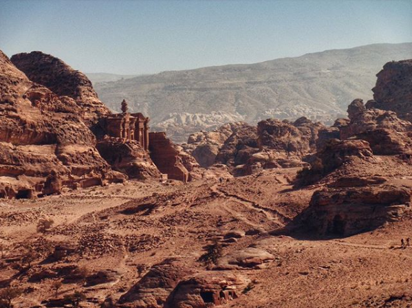 Your first glimpse of the Monastery at Petra as you hike from Little Petra to Petra. Photo taken by Jayden Ordner,  @jayden_ordner on Instagram .