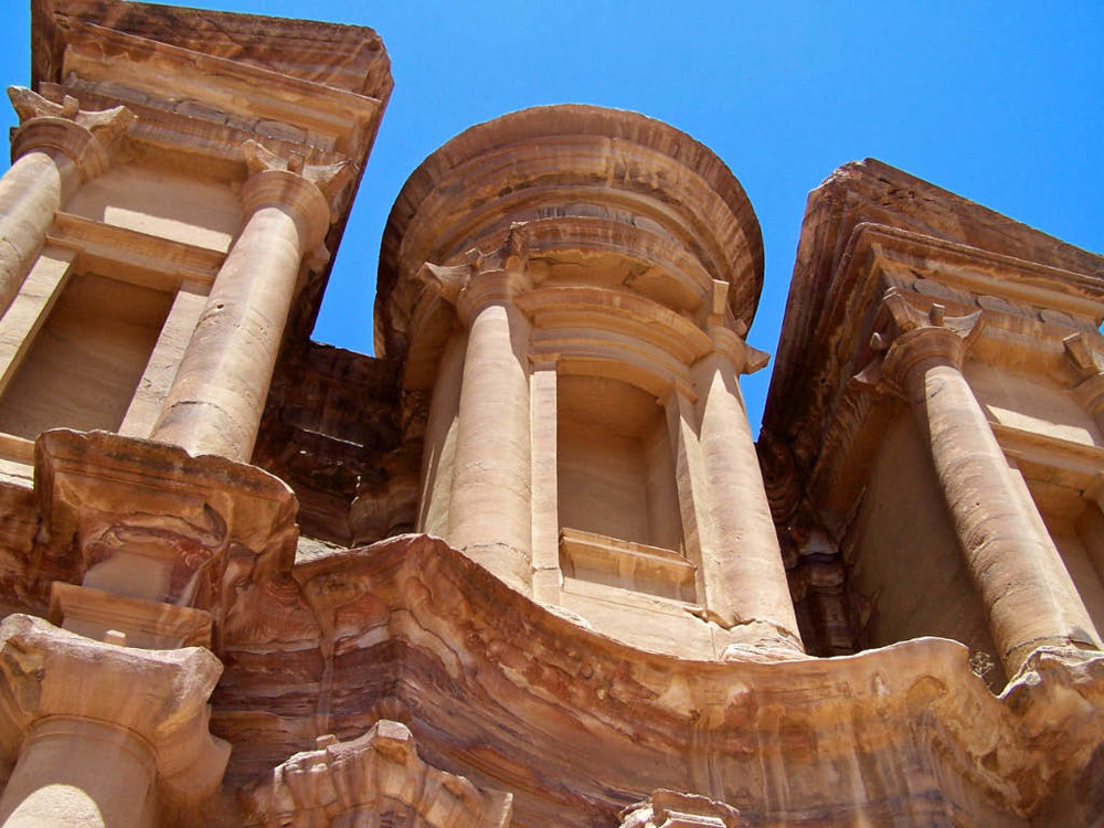 The Monastery at Petra. Photograph by Tom Neys.