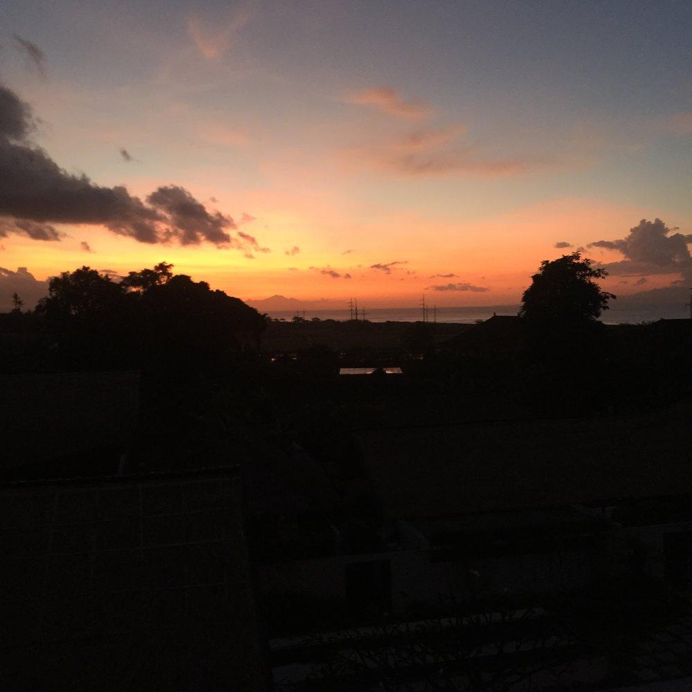 Sunrise in Bali...