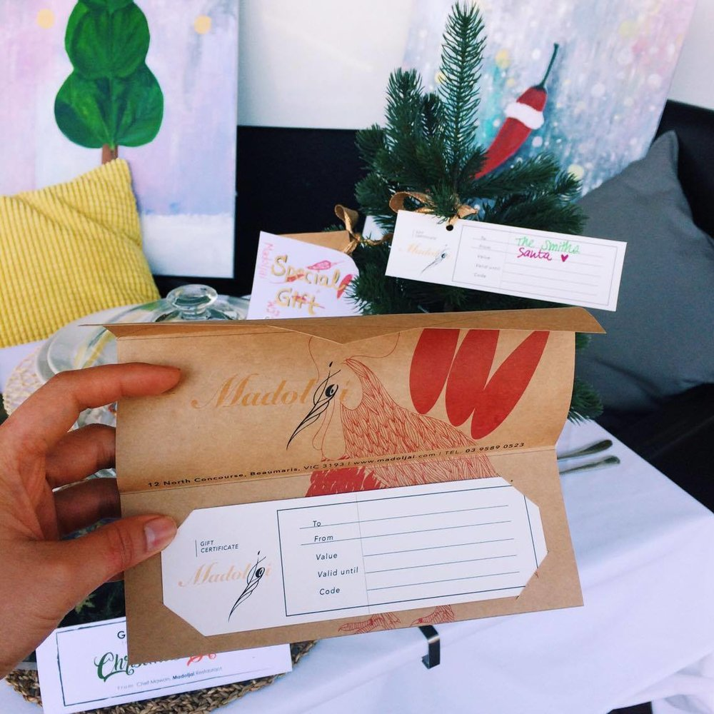 Our handmade Gift Card