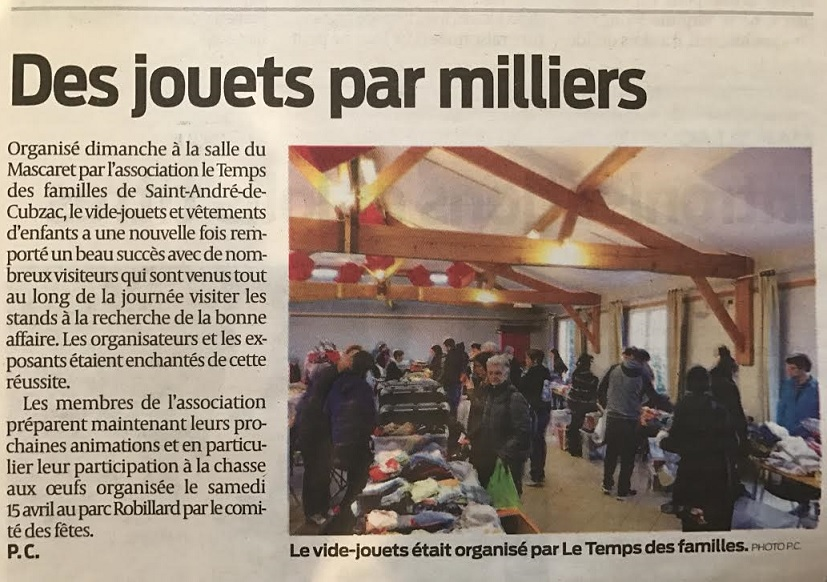 (Article Sud Ouest visible  ici )