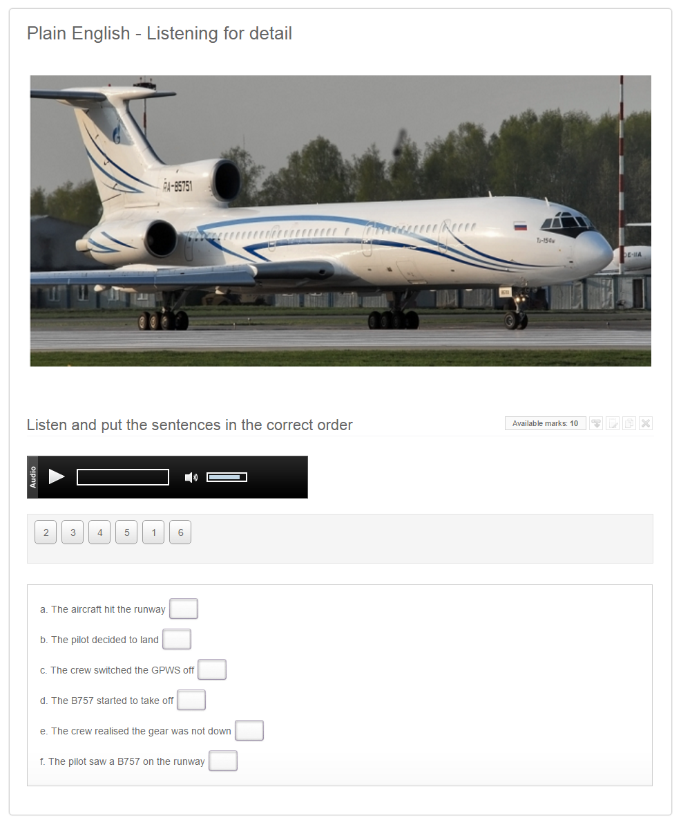 Aviation English e-learning example