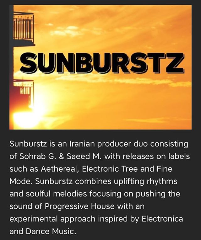New release by @sunburstz.music available worldwide tomorrow. Pre-order now at link in bio.
