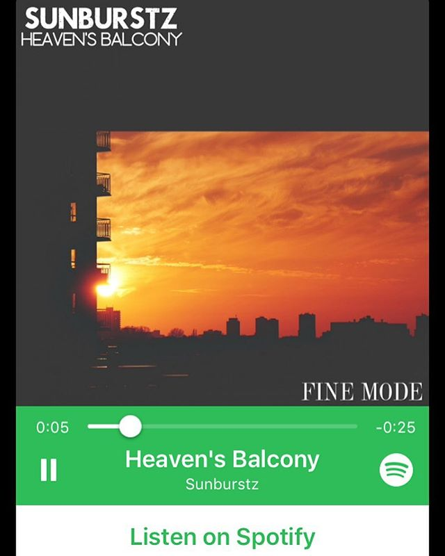 Now available for streaming on @spotify  Heaven's Balcony by @sunburstz.music 🎧🔊 Search for it and add to your playlists.