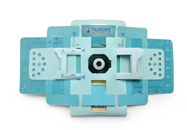 We will be using  Foldscopes  —origami-based microscopes